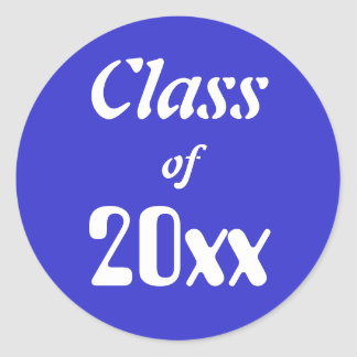 ¡Clase adaptable de los pegatinas 20xx! Graduación Pegatina Redonda