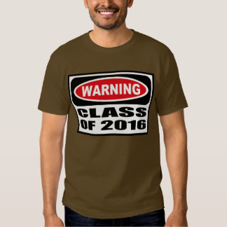 CLASE amonestadora de la camiseta oscura de 2016 Playera