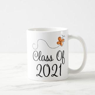 Clase anaranjada de la mariposa de 2021 tazas