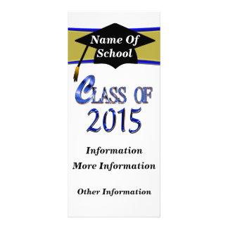 Clase azul de 2015 tarjetas del estante lona personalizada