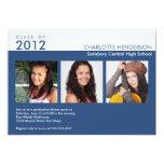 Clase azul de la graduación de la foto del comunicados personales