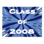 Clase azul y blanca de 2008 tarjeta postal