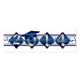 Clase azul y de plata de 2014 tarjetas del perfil tarjetas de negocios