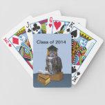 Clase chistosa del búho 2014 de la graduación baraja cartas de poker