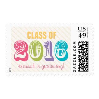 Clase colorida y brillante de 2016 timbre postal