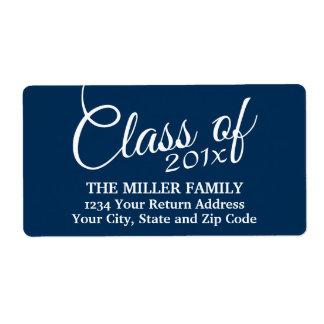 Clase con de año de encargo y de High School Etiquetas De Envío