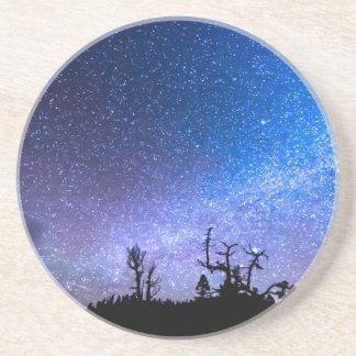 Clase cósmica de noche posavasos personalizados