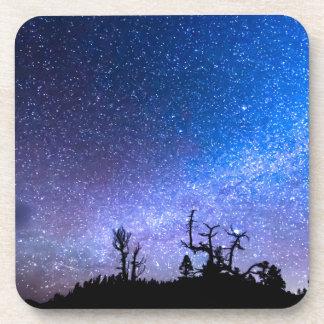 Clase cósmica de noche posavasos