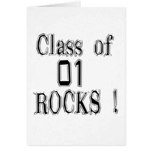 ¡Clase de '01 rocas! Tarjeta de felicitación