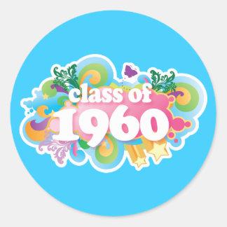 Clase de 1960 etiquetas redondas