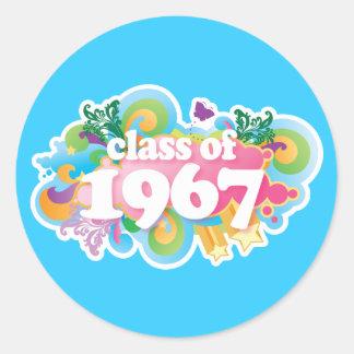 Clase de 1967 pegatina redonda