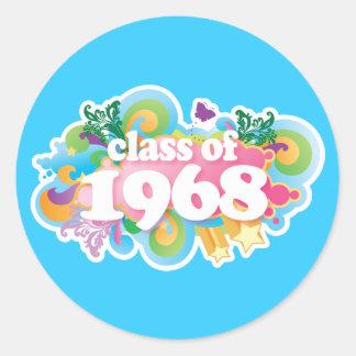 Clase de 1968 pegatina redonda