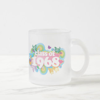 Clase de 1968 taza de cristal