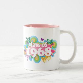 Clase de 1968 taza de dos tonos