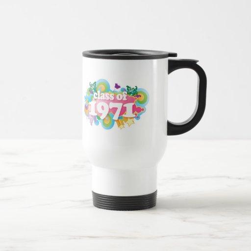 Clase de 1971 taza de café