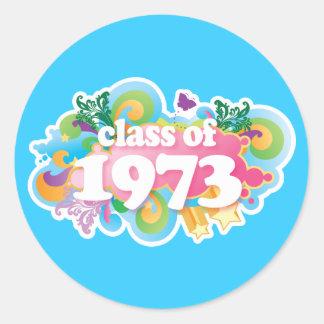 Clase de 1973 pegatina redonda