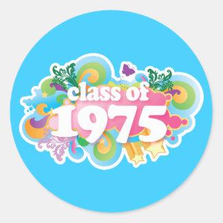 Clase de 1975 pegatinas redondas