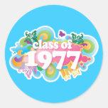 Clase de 1977 etiqueta redonda