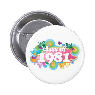 Clase de 1981 pins