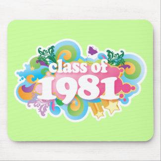 Clase de 1981 tapetes de ratón