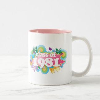 Clase de 1981 tazas de café