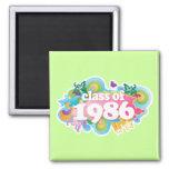 Clase de 1986 imanes para frigoríficos