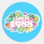 Clase de 1988 pegatina redonda