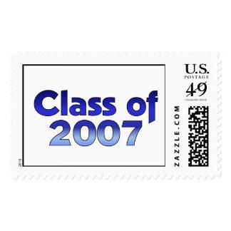 Clase de 2007 azules y blancos sellos