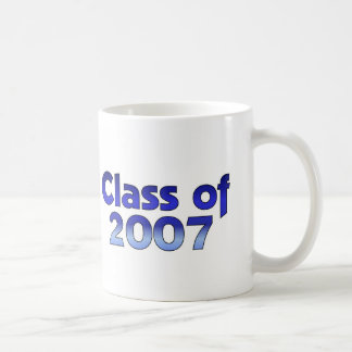 Clase de 2007 azules y blancos tazas