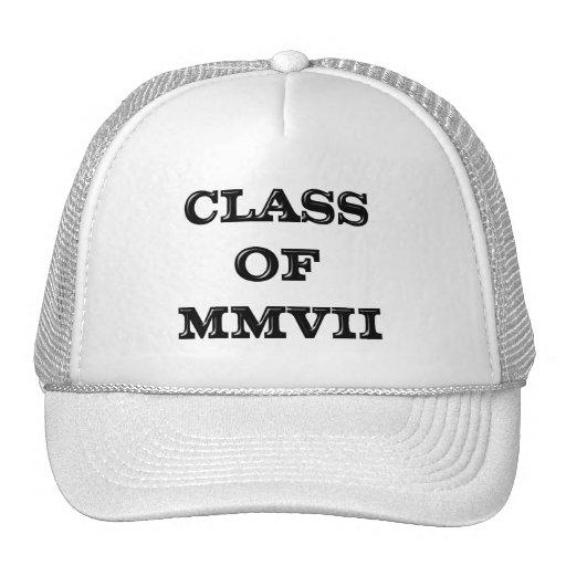 Clase de 2007 gorras