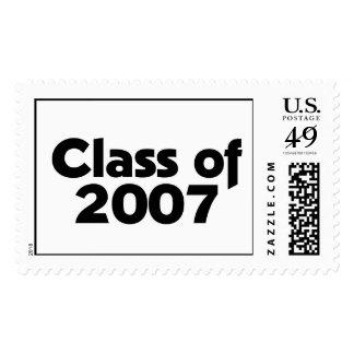 Clase de 2007 negros y de blanco franqueo