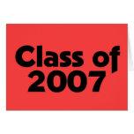 Clase de 2007 negros y de rojo felicitacion