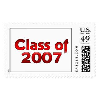 Clase de 2007 rojos y blancos franqueo