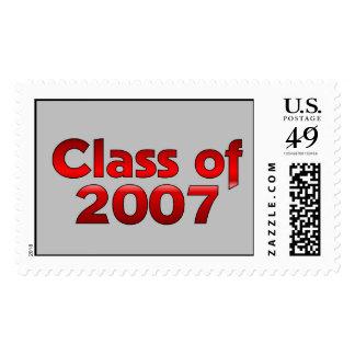 Clase de 2007 rojos y grises franqueo
