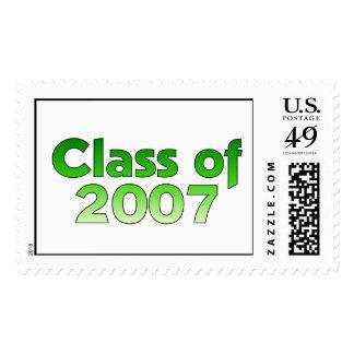 Clase de 2007 verdes y de blanco envio