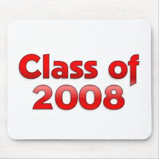 Clase de 2008 - cojín de ratón rojo alfombrillas de raton