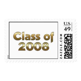 Clase de 2008 - sello del oro