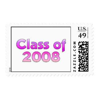 Clase de 2008 - sello rosado