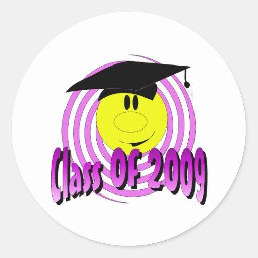 Clase de 2009 etiqueta redonda