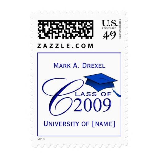 Clase de 2009 sellos de encargo con nombre