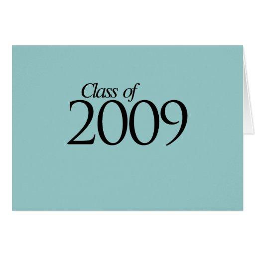 Clase de 2009 tarjeta de felicitación