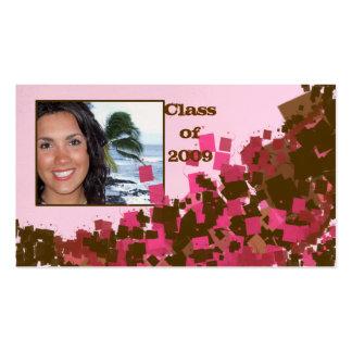 Clase de 2009 tarjetas mayores plantillas de tarjetas de visita