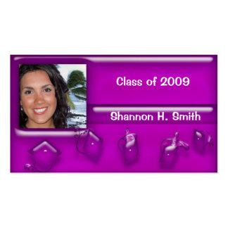 Clase de 2009 tarjetas mayores tarjetas de negocios