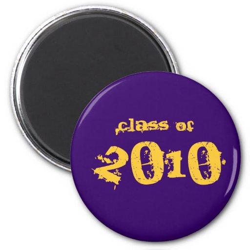 Clase de 2010 - púrpura y oro imán de frigorífico