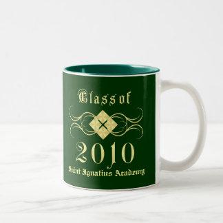 Clase de 2010 - tazas elegantes del regalo de la