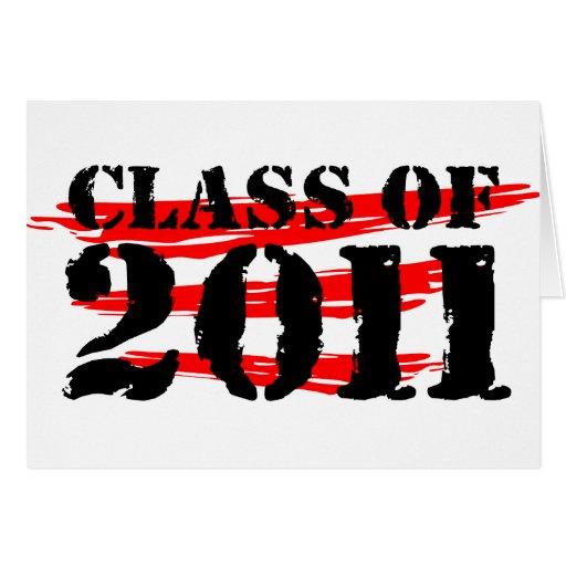CLASE DE 2011 TARJETA DE FELICITACIÓN