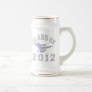 Clase de 2012 artes marciales - gris 2 taza de café