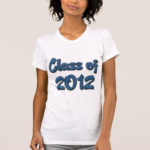 Clase de 2012 - azul camisetas