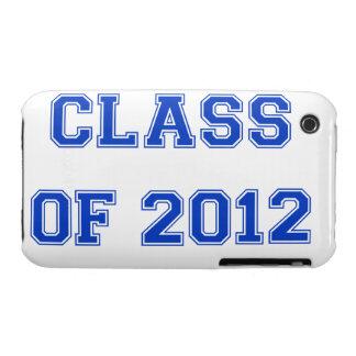 Clase de 2012 - azul iPhone 3 cárcasas