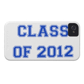 Clase de 2012 - azul iPhone 4 carcasas